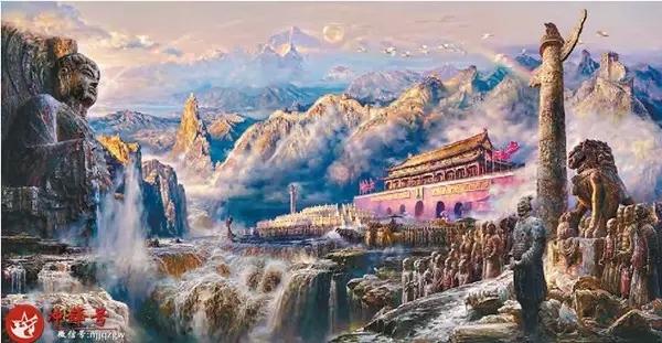 数字油画 祖国风景