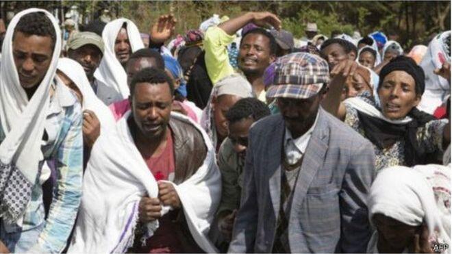 埃塞俄比亚抗议民众与警方冲突 造成约50人丧生