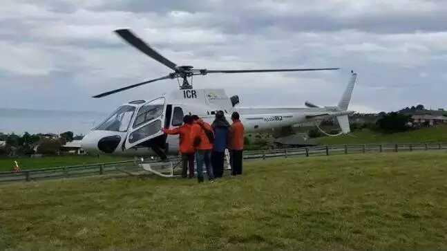 新西兰地震后,空中是中国承包的救援飞机