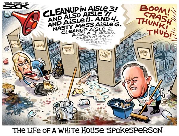 """白宫""""清洁工"""""""