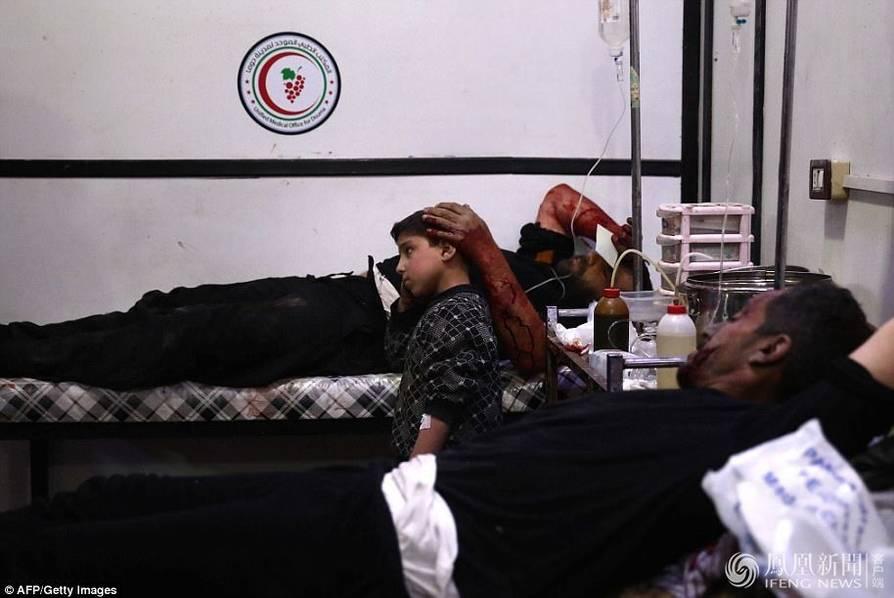 叙利亚遭战机投毒气现场