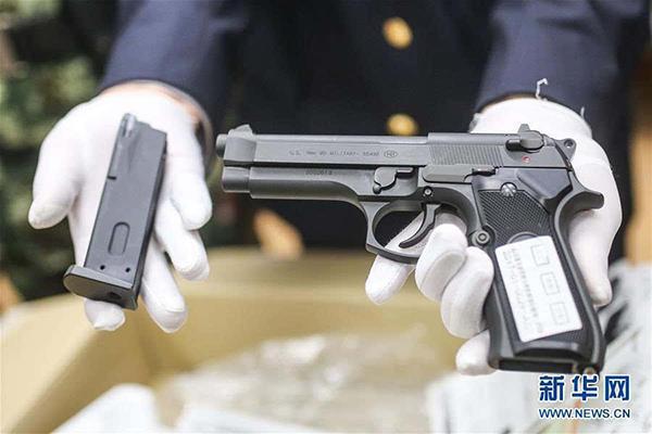 青岛口岸在儿童玩具枪入境快件中检出枪支