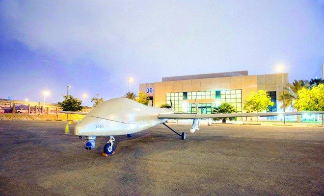 沙特展示首架国产无人机