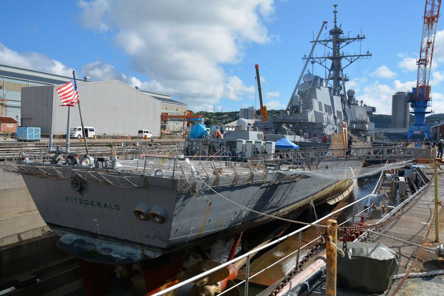 美宙斯盾舰和集装箱船相撞事故或美方过失
