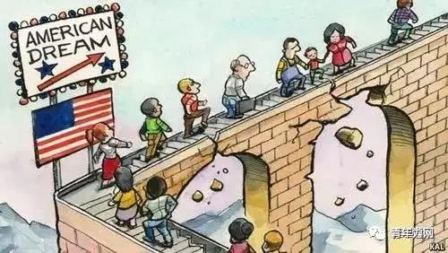 """""""美国梦""""破碎是因为机会平等已不存在"""