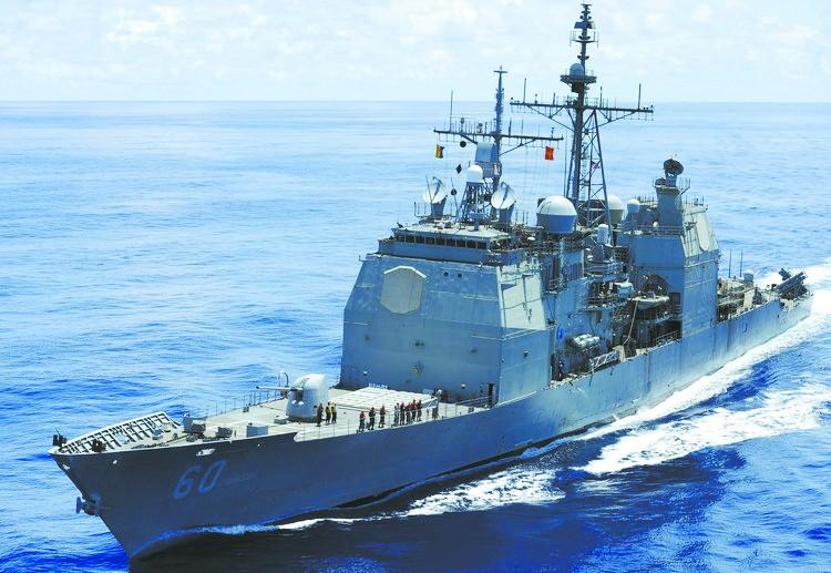 美海军开始告别巡洋舰时代是航母编队防空核心