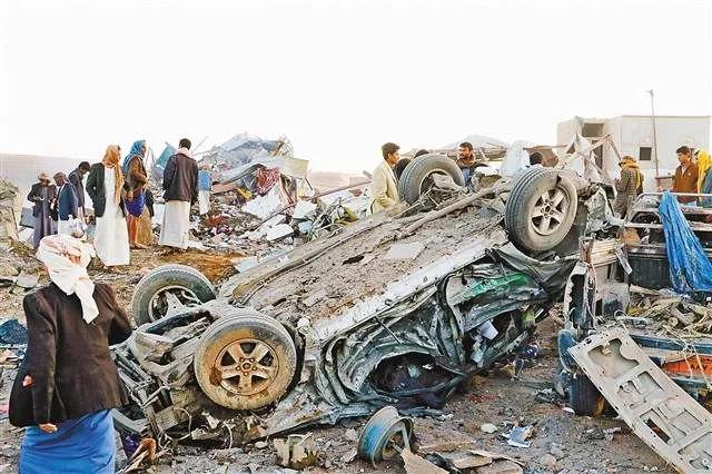 多国联军空袭也门致26人死亡