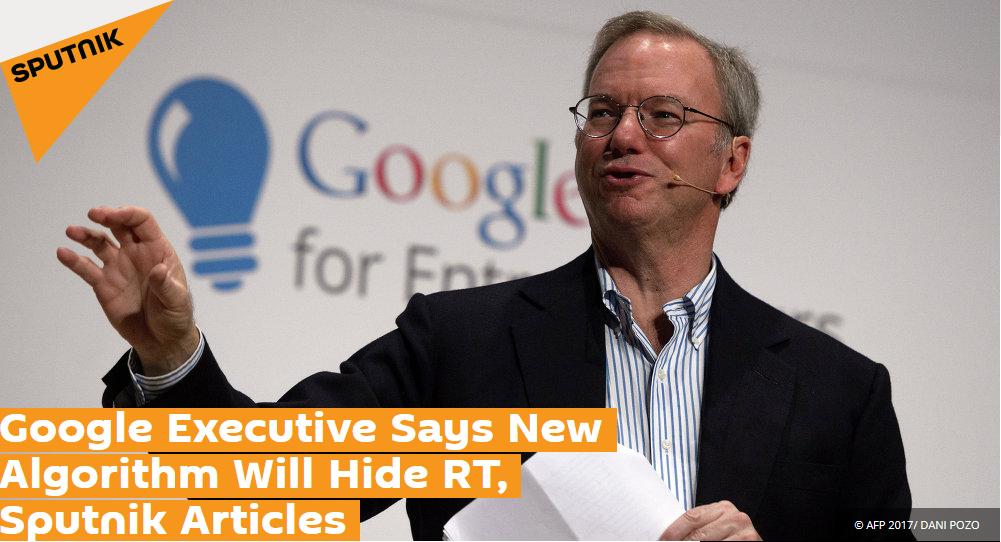 """谷歌宣布将用新算法让俄媒""""消失"""""""
