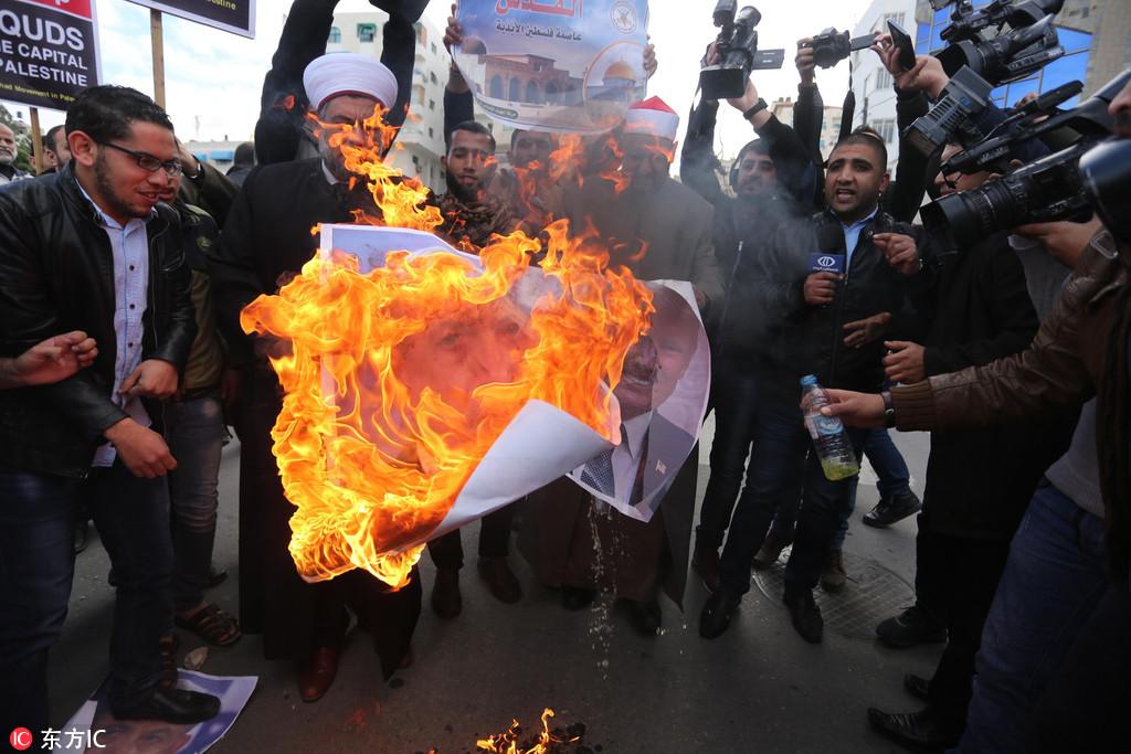 """特朗普""""耶路撒冷决定""""激起中东爆发反美浪"""