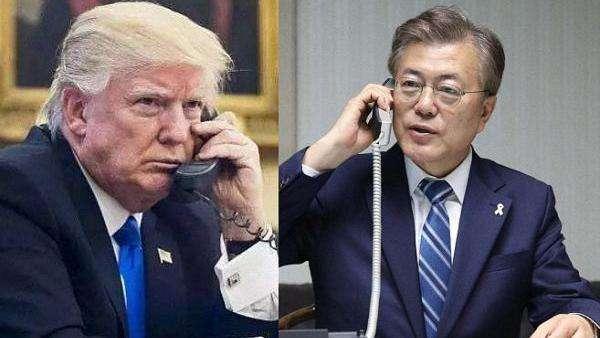 特朗普与文在寅通话:下一步或进行朝美对话