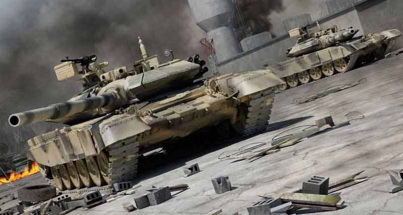 美对比中美俄三大主战坦克99式火力机动性占优
