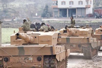 对手亮出俄制导弹 土军豹2坦克险被打爆