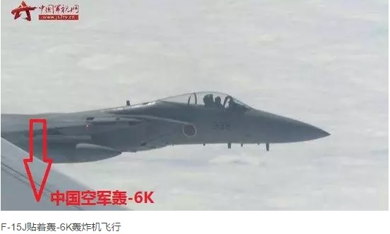 日机欲拦截我轰-6K,解放军战机立刻实弹锁定!