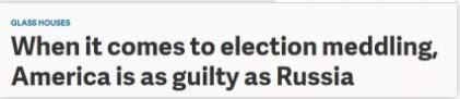 谴责俄插手选举?美国自己干过这些秘密勾当