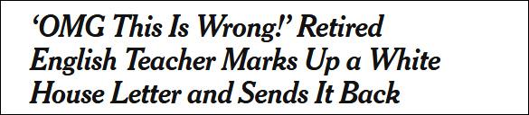 特朗普官方回信错误百出,猜猜老师打几分?