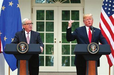 """美欧贸易""""休战"""":德国人开心,法国人不服?"""