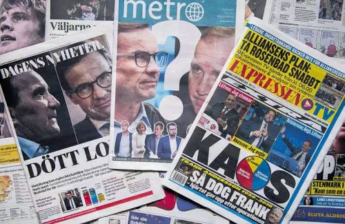 瑞典右转明显,法极右党魁乐开怀