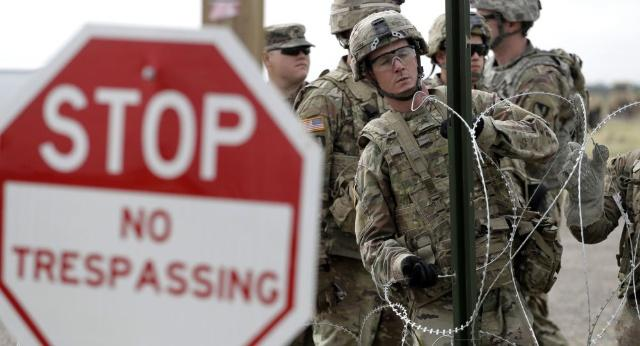 白宫允许美军在墨西哥边境开枪