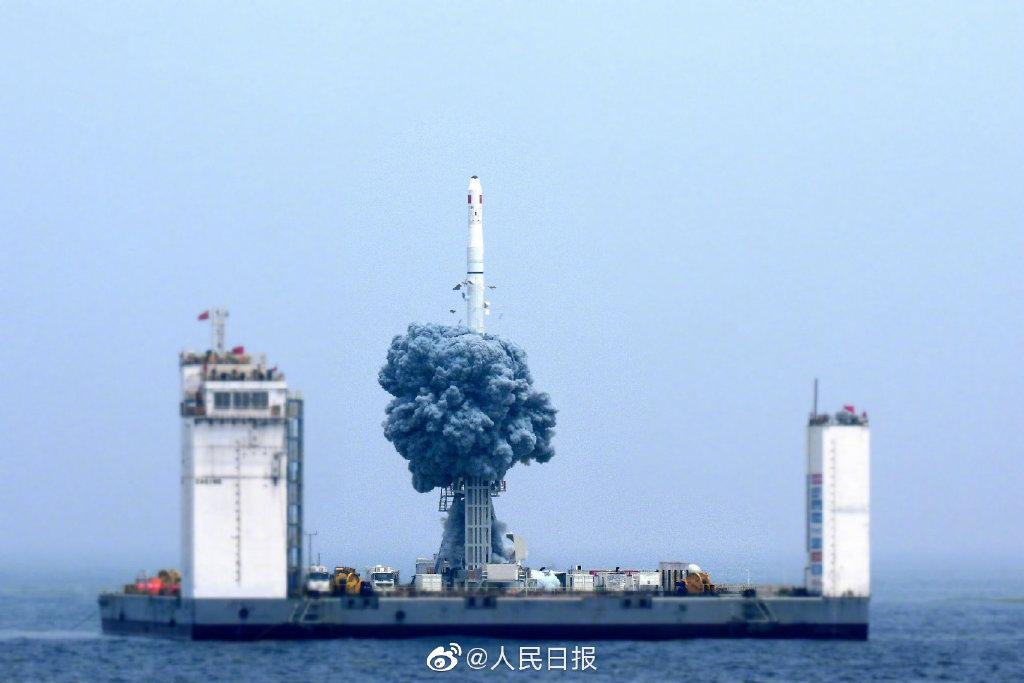 长征十一号火箭用固体燃料 海上起竖通电就能发射