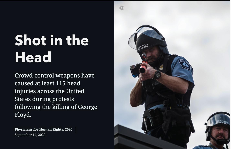 专挑脑袋打 美国警察暴力狠手遭曝光