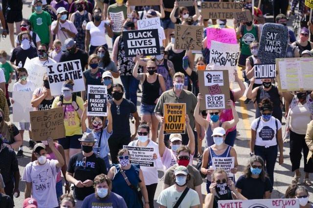 美国境内的抗议运动 资料图