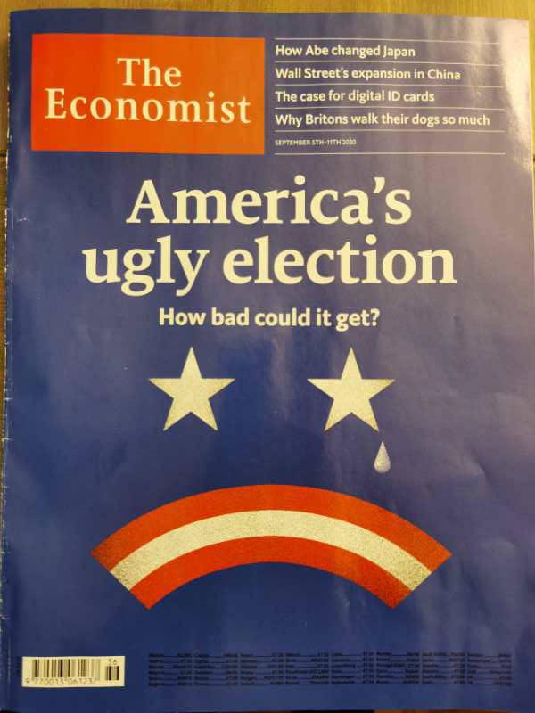 """""""丑陋的美国推举"""" ——这是经济学人杂志封面大题目"""
