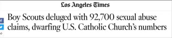 《洛杉矶时报》截图