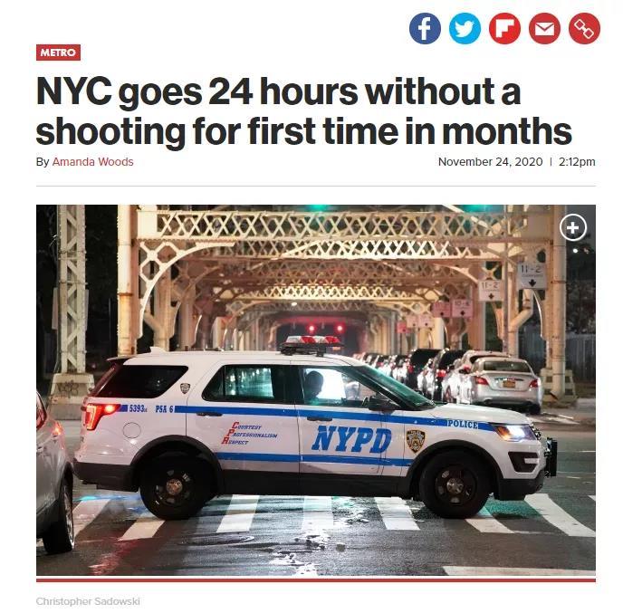 纽约已经24小时没有枪击了!网友:这也值得庆祝?!