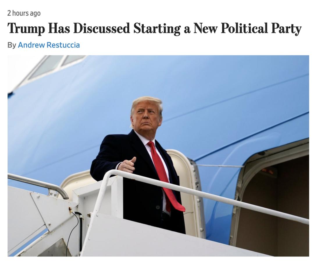 """特朗普又在酝酿一件""""大事""""。"""