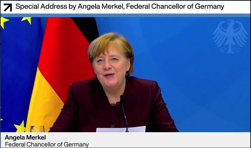 默克尔:我同意中国领导人倡议,反对在中美间站队