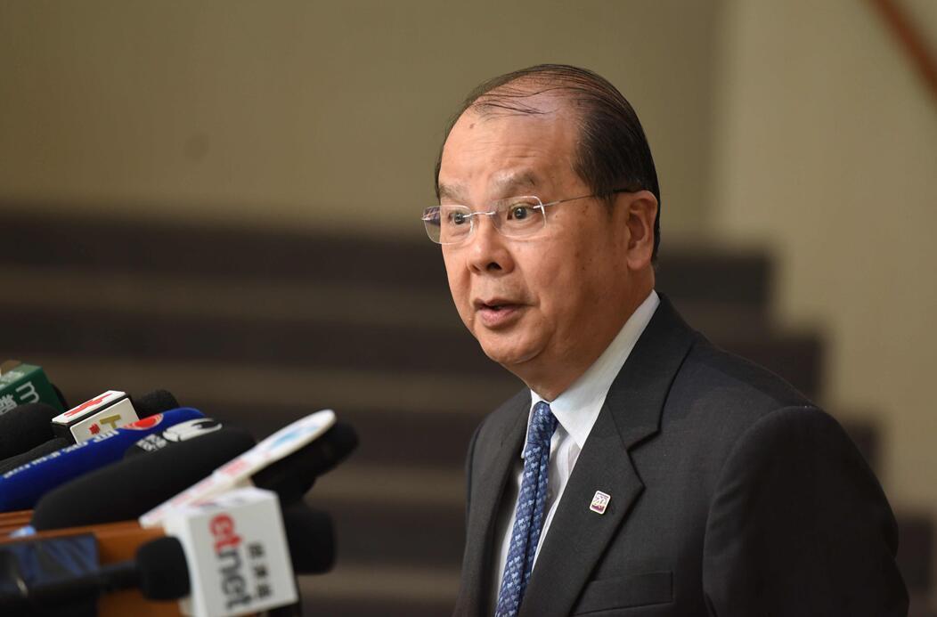 香港特区政府政务司司长张建宗:香港居民应身体力行履行维护国家安全的义务