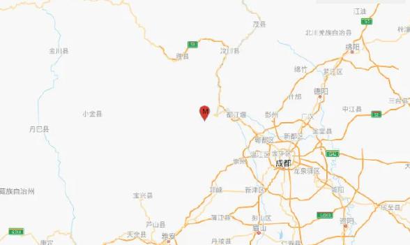 四川汶川发生4.8级地震,成都等地震感明显