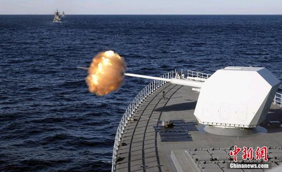 美驱逐舰闯中俄联合演习禁航海域 俄军战舰没客气