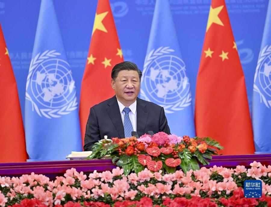 为实现世界永续和平发展贡献中国力量